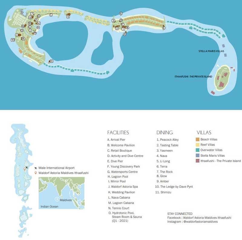 Lageplan Waldorf Astoria Maldives Ithaafushi